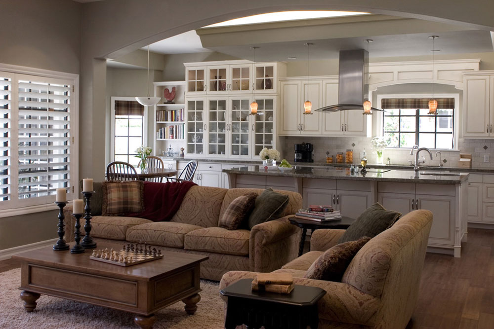 Design Ideas for making kitchen living space combos a ...