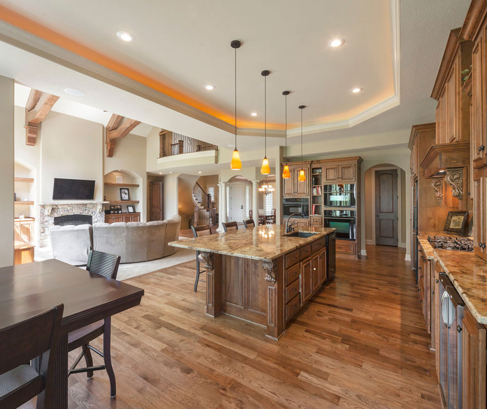 Open Heart Kitchen: Design Ideas For Making Kitchen Living Space Combos A