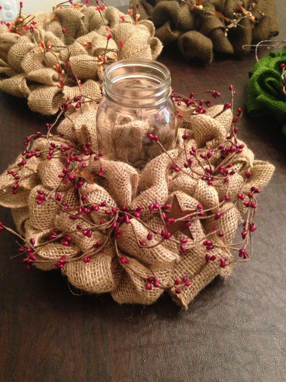 How about using burlap in a creative way?