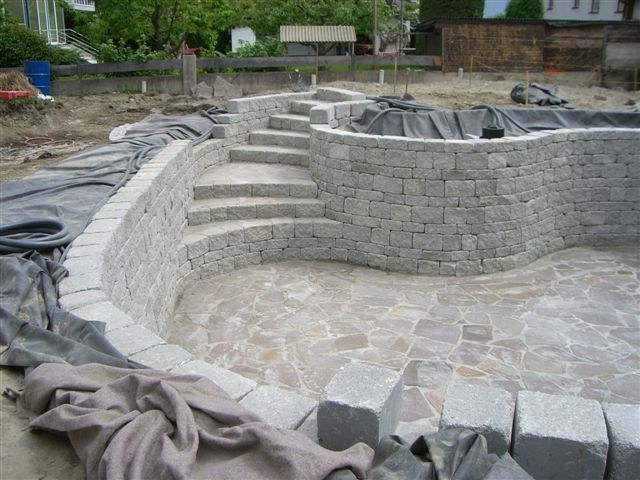 Building a swimming pool by your own for Gartenpool rechteckig
