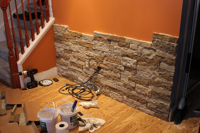 diy-stone-accent-wall.-would-be-cool-in-the-basement.-and-i-like-the-wall-color