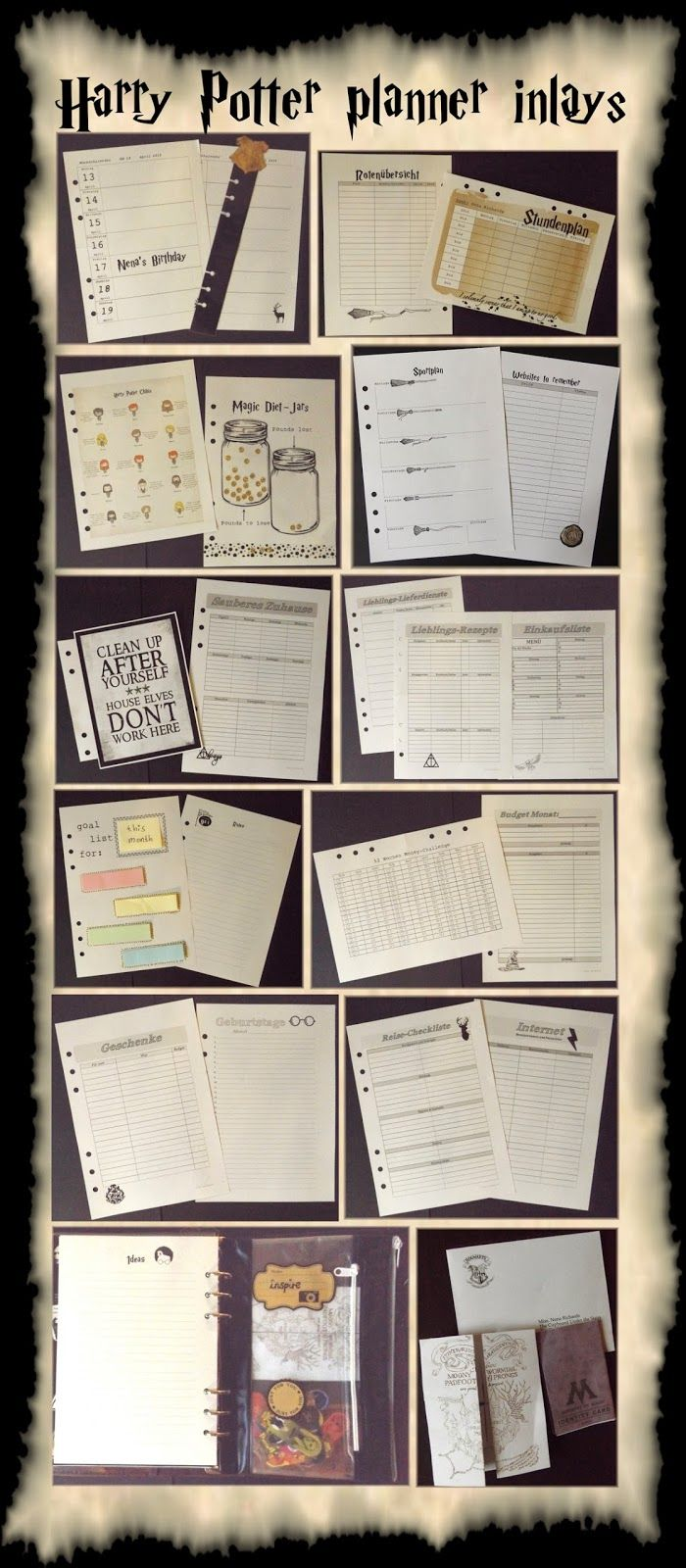 image about Diy Planner Organizer identify filofaxing---harry-potter-planer-organizer-kalender