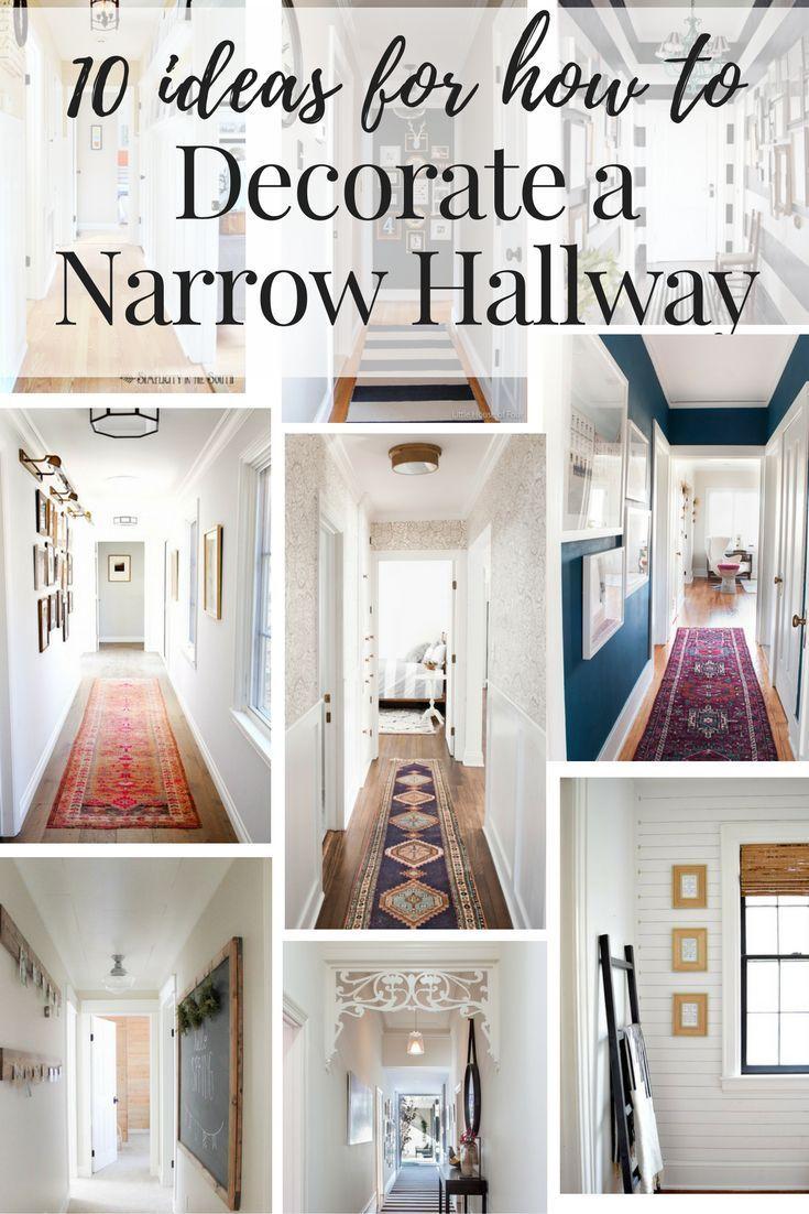 How to décor the narrow hallway?