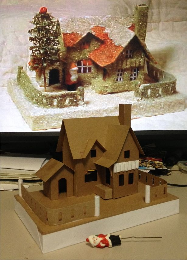 Making The Model Of A House For The Christmas Season
