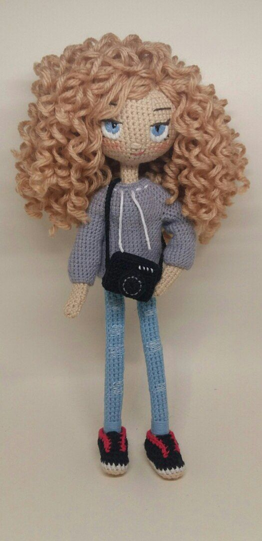 Crochet doll: The easy way to make hair for your doll - hair for ... | 1080x524