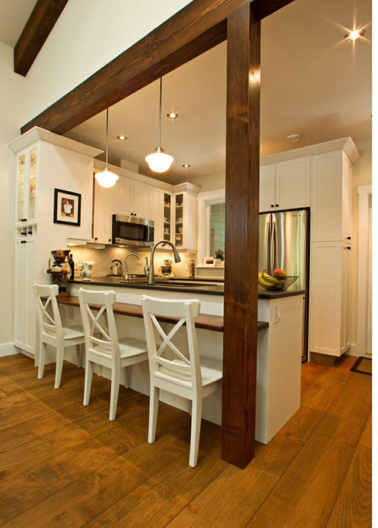A kitchen peninsula is a great addition to an open kitchen ...