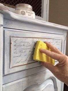 Use chalk paint in an innovative way