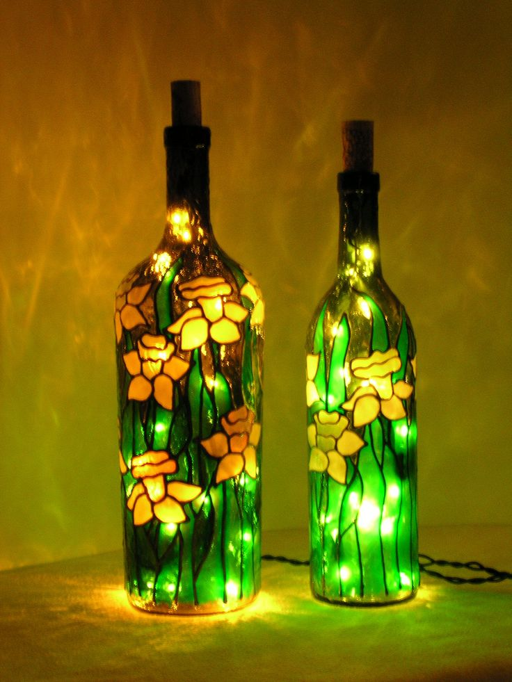 Make your own home decor with glass bottles