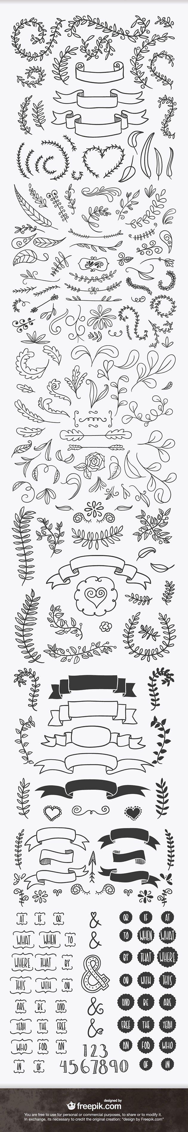 Hand sketched designs
