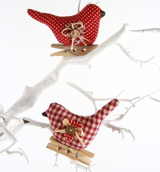 Christmas birds gifts decorations