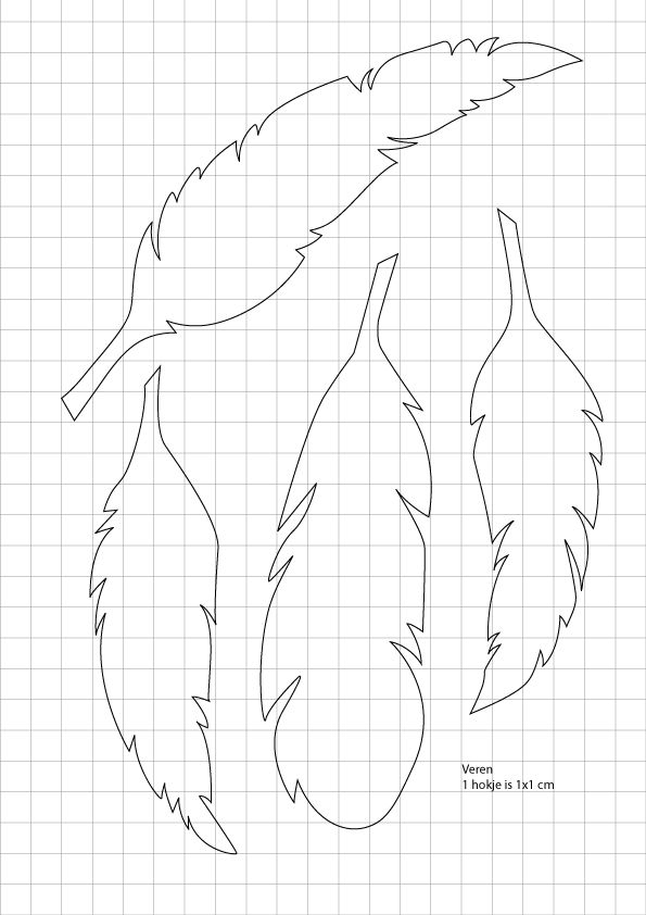 How To Draw Feather Templates And Use Them On The Designs