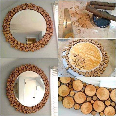 A Very Stylish Example For Mirror Decoration