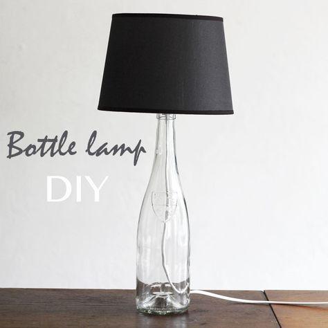 Bottle Lamp Handmade Construction