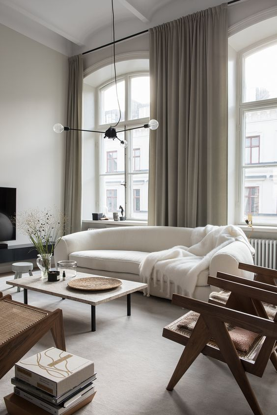Effect Of White Color In Living Room Decoration