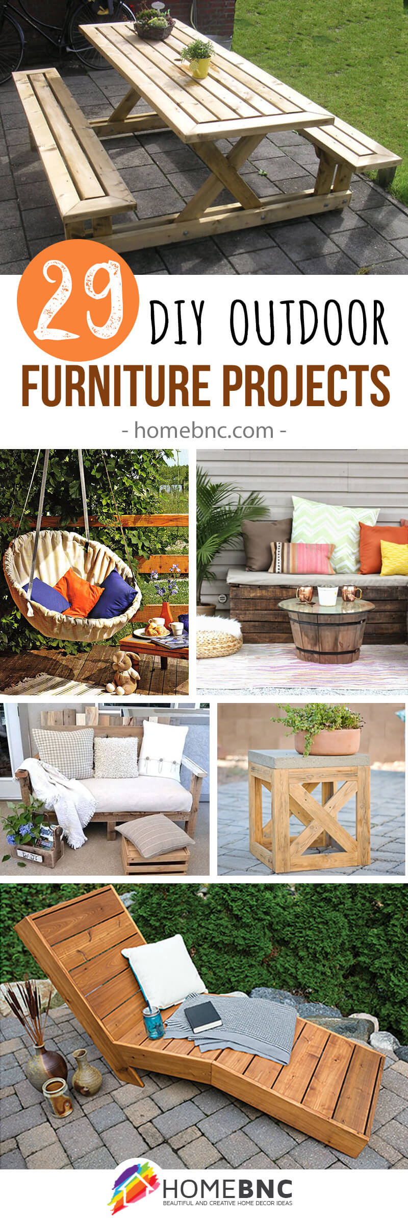 DIY Outdoor Furnitures For Garden Lovers