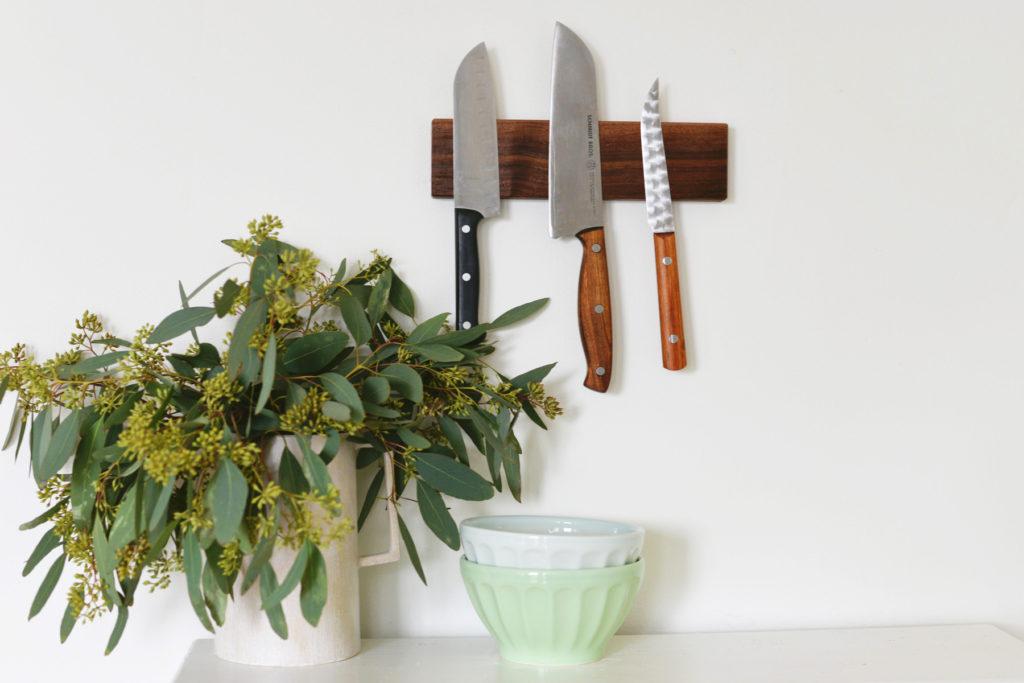 Super Easy Handmade Magnetic Knife Holders