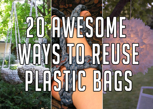 The Ways Of Reusing Plastic Bags In DIY Projects