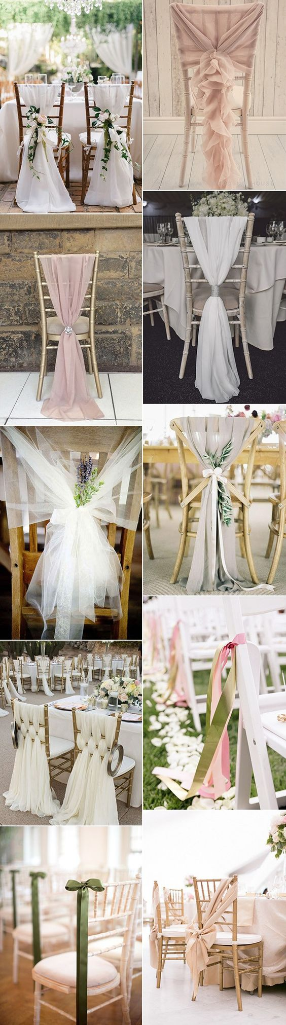 The Most Beautiful Ways Of Decorating Wedding Chairs