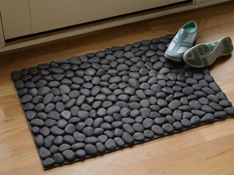 Easy Doormat Construction With Pebbles