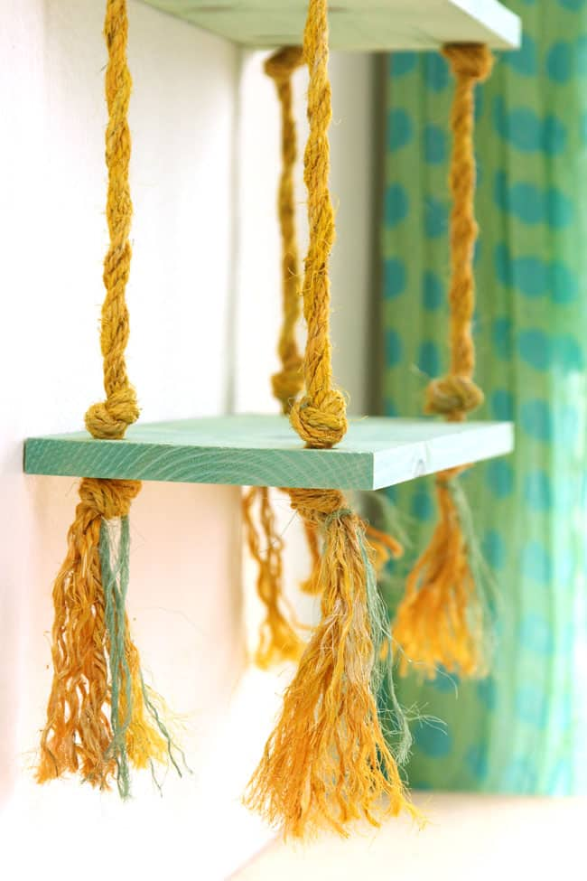 DIY Decorative Rope Shelf Construction With Materials